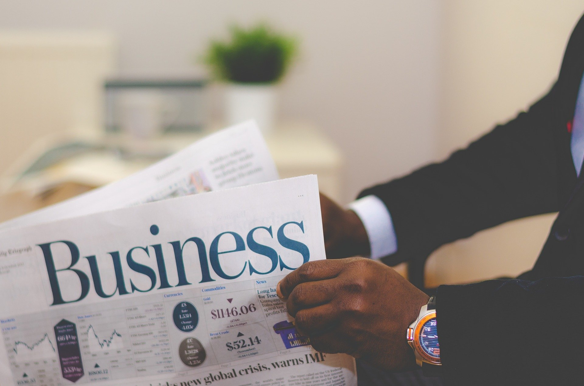 business newspaper image